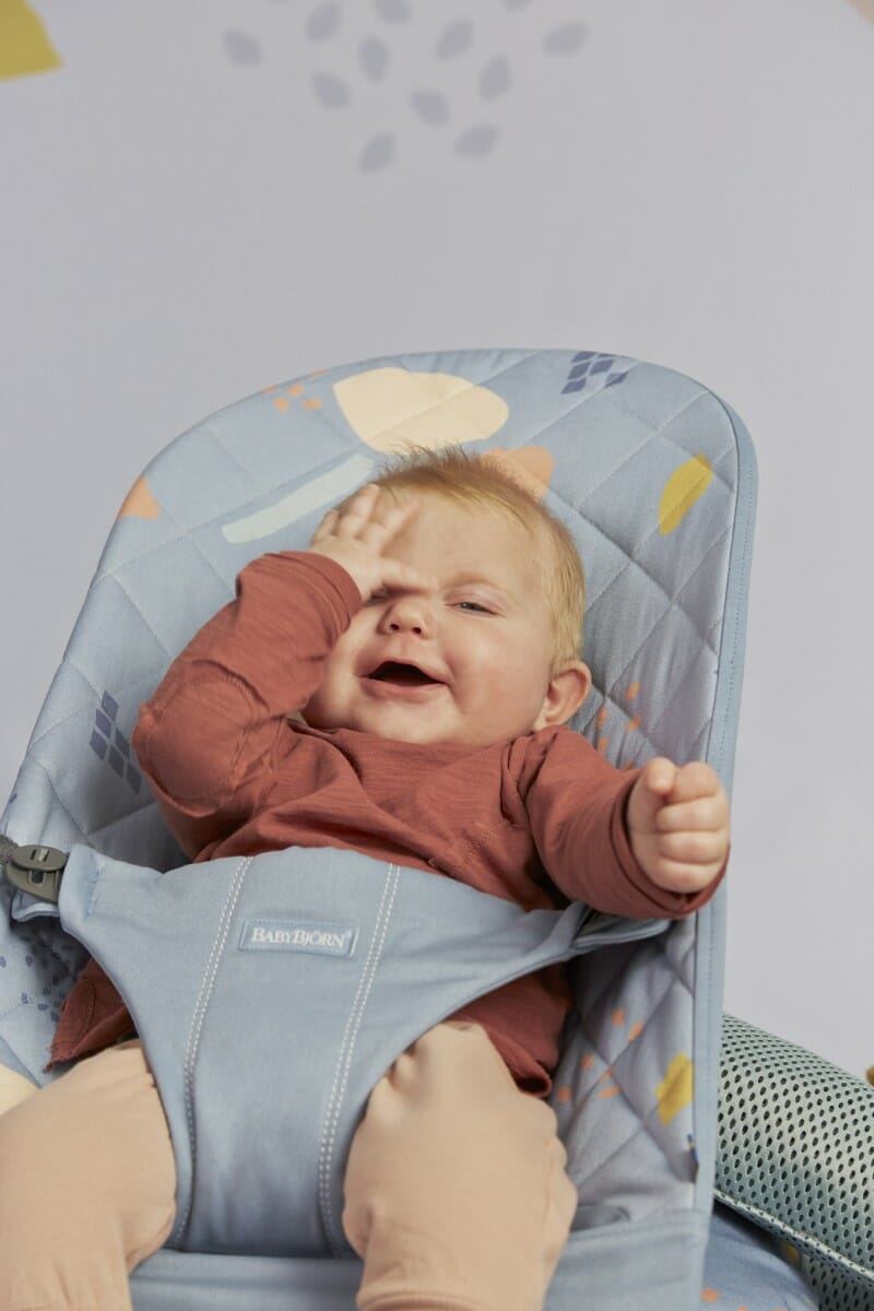 Babybjorn Bouncer Bliss Confetti Biue, Cotton Lifestyle 2