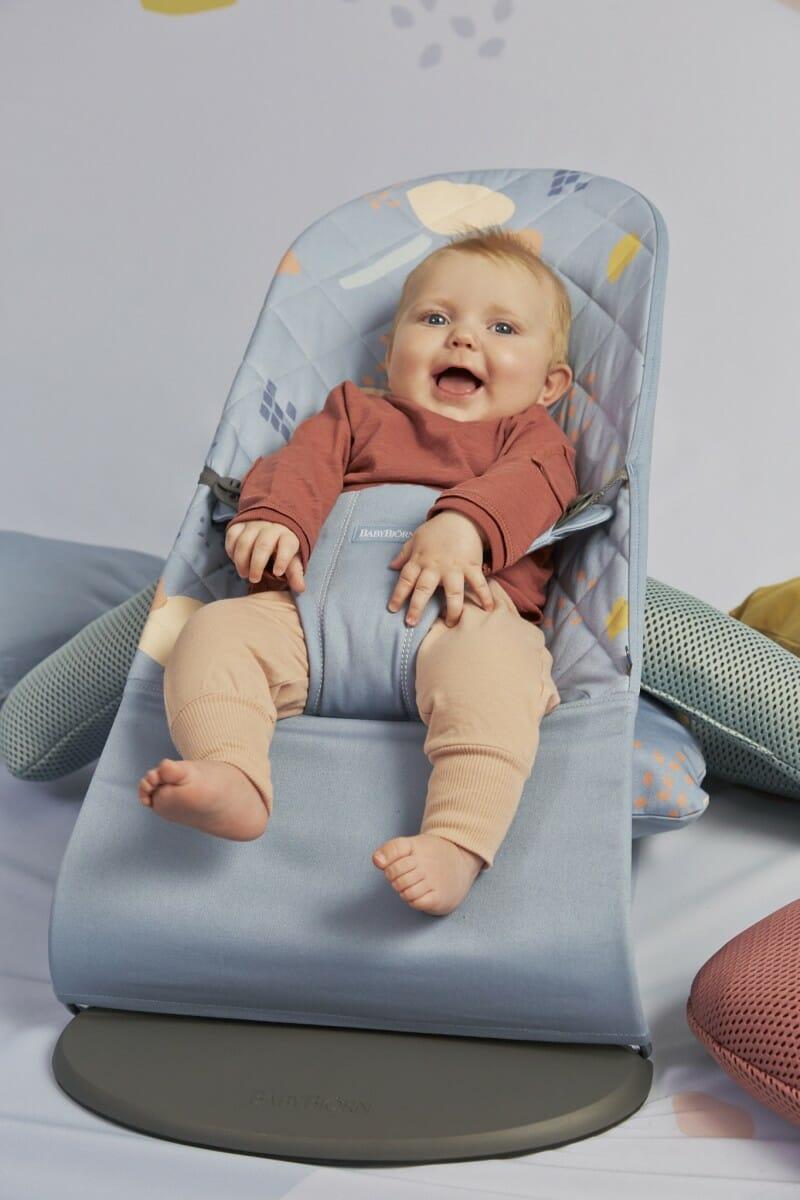 Babybjorn Bouncer Bliss Confetti Biue, Cotton Lifestyle 4