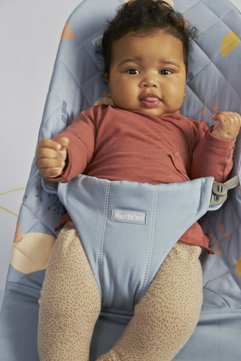Babybjorn Bouncer Bliss Confetti Biue, Cotton Lifestyle