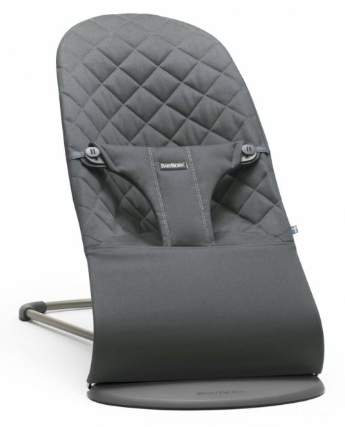 BabyBjorn Bouncer Bliss Cotton - Anthracite, Cotton Hero