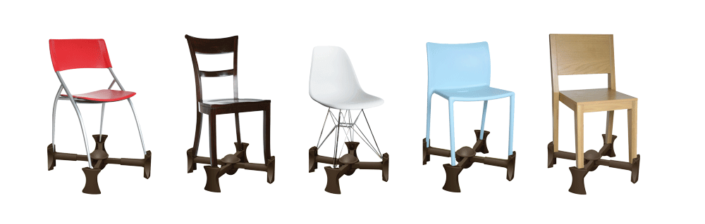 Kaboost Chocolate on range of chairs