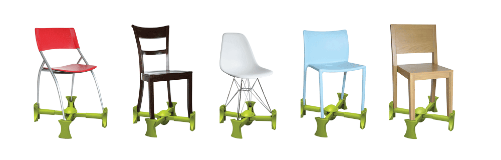 Kaboost Green on range of chairs