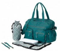 OiOi Turquoise Faux Buffalo Carry All Nappy Bag kit