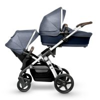 Silver Cross WAVE Midnight carry cot and seat unit