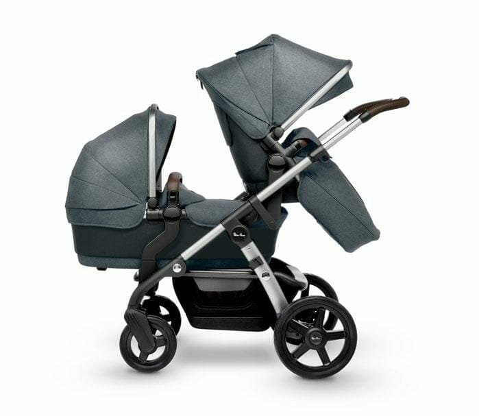 Silver Cross Wave V3 Slate With Bassinet And Seat