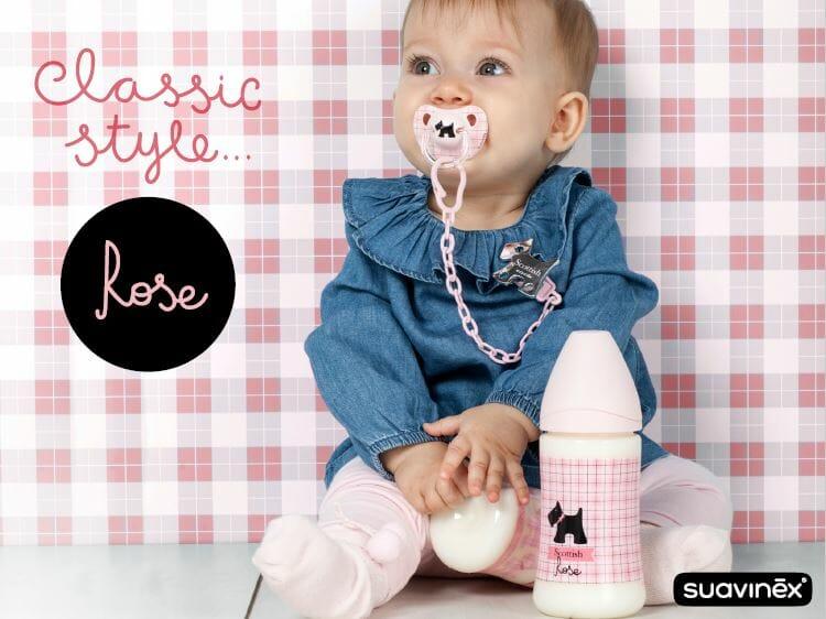 Suavinex Rose & Bleu Wide Neck Bottle Rose 1