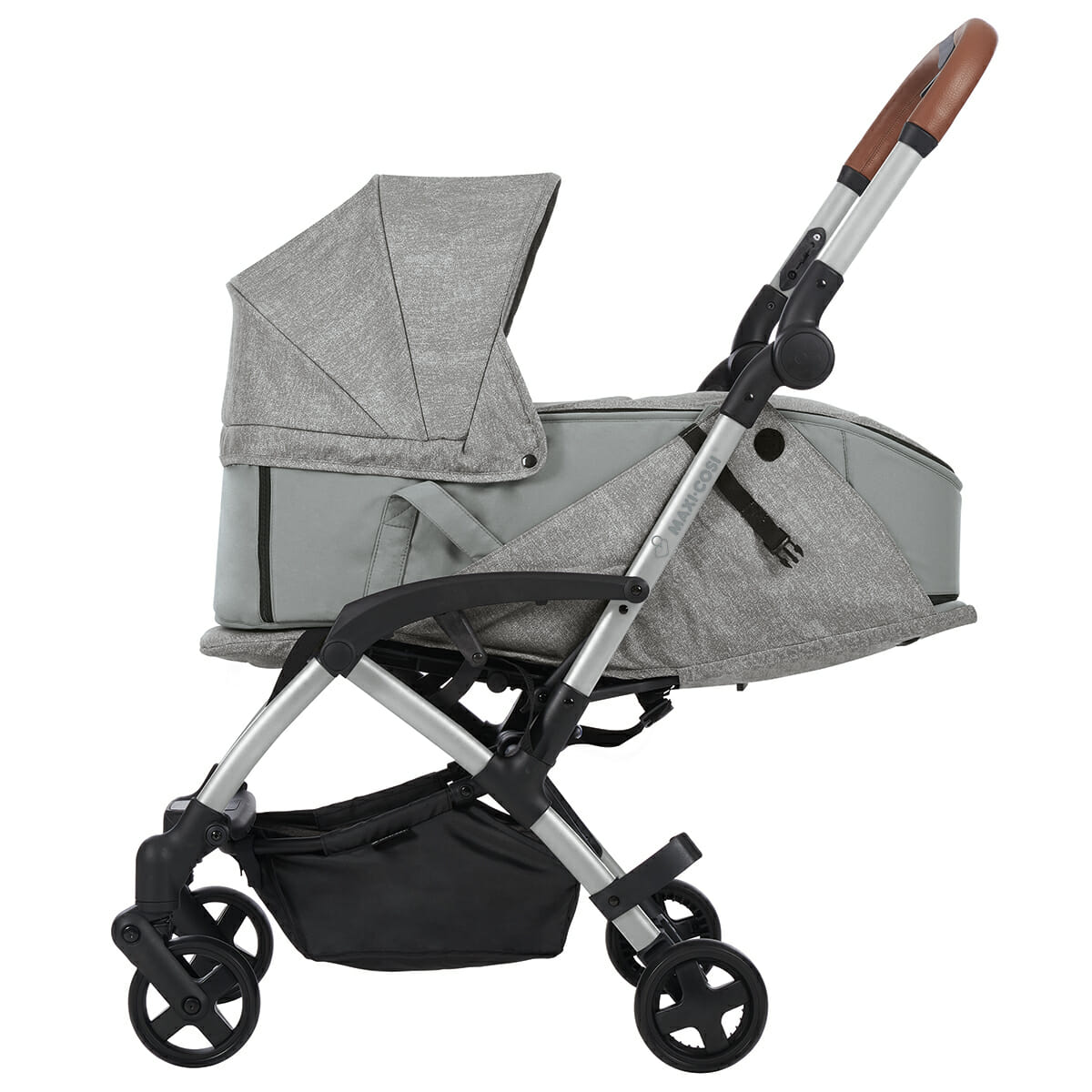 Maxi Cosi Laika Nomad Grey Carry Cot Side