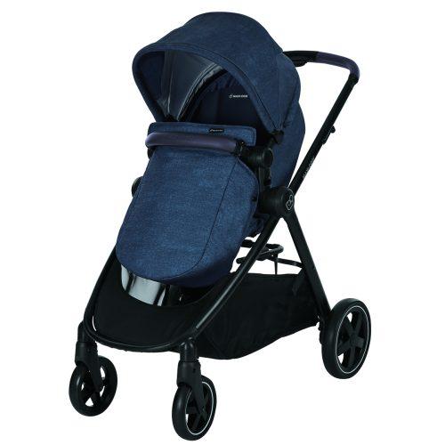 Maxicosi Stroller Travelsystem Zelia Blue Nomadblue Bootcover 3q