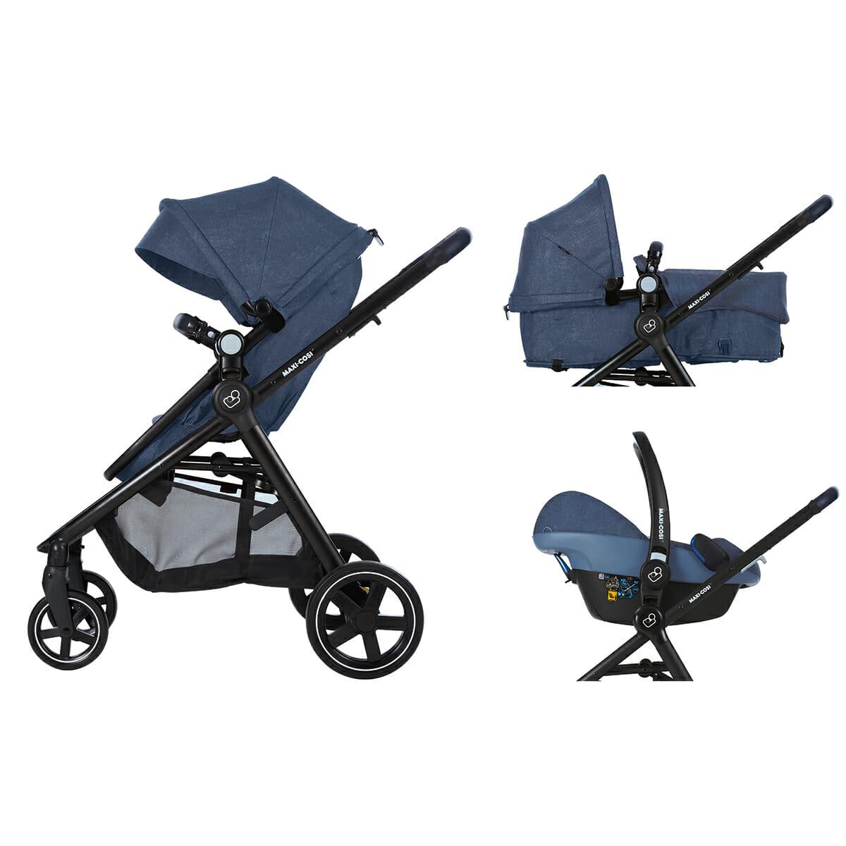 Maxicosi Stroller Travelsystem Zelia Blue Nomadblue Flexibletrav