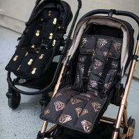 Outlook Get Foiled Pram Liner Charcoal w Rose Gold Lifestyle 2