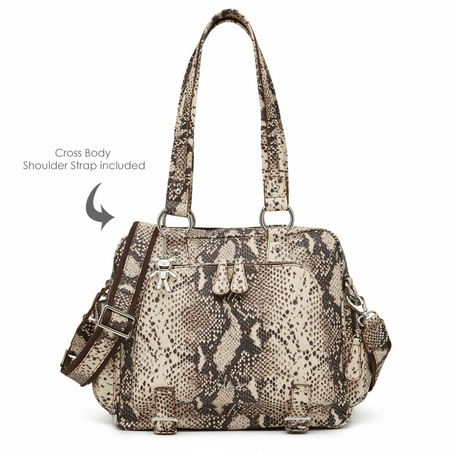 Il Tutto After Baby Bag Snake Limited Edition front with shoulder strap