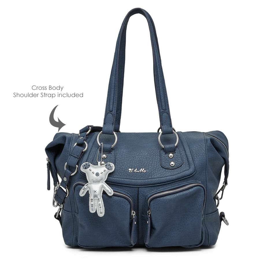Il Tutto Lola Tote Nappy Bag Ocean Front with shoulder strap