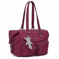 Il Tutto Lola Tote Nappy Bag Raspberry Angle