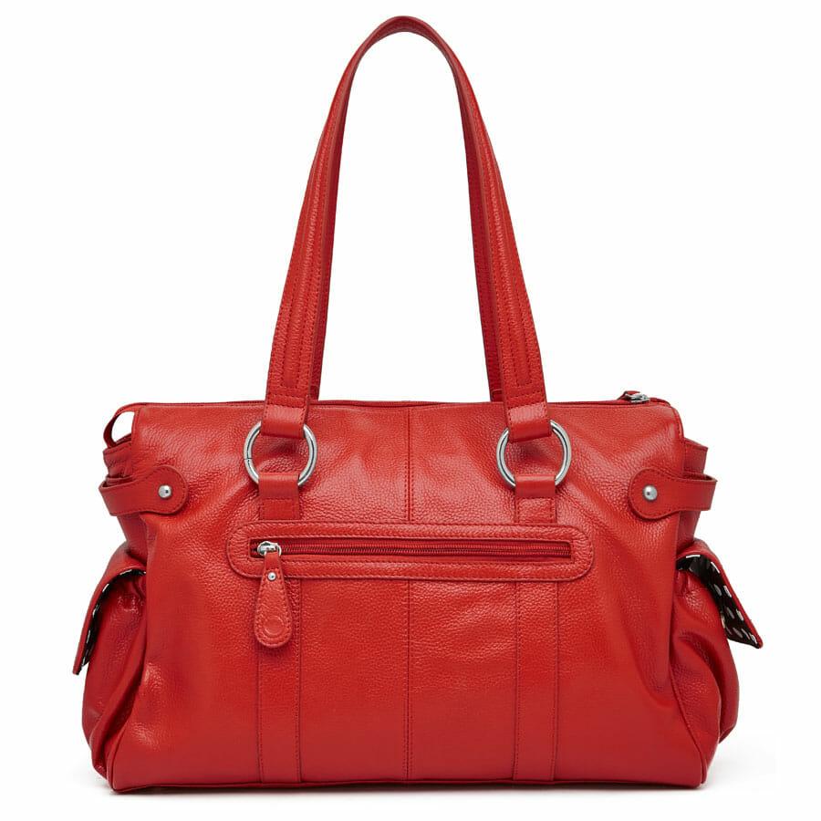 Il Tutto Mia Leather Tote Baby Bag Red