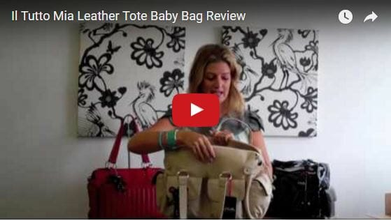 Il Tutto Mia Leather Tote Baby Bag Video Review