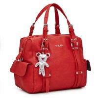 Il Tutto Nico Tote Nappy Bag Red Side View