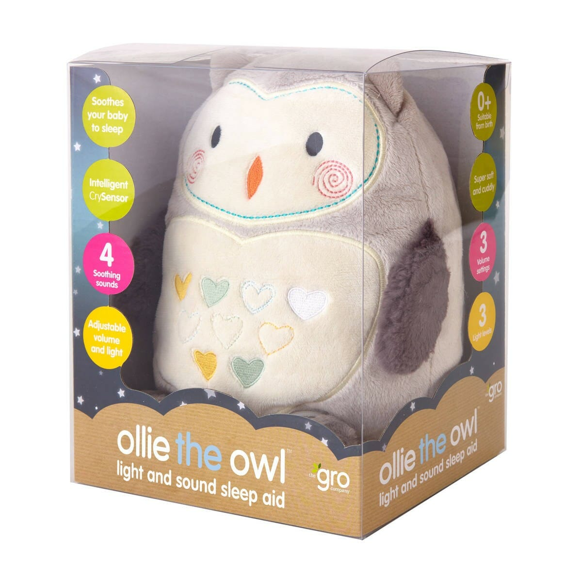 Gro Ollie the Owl Sound and Light Gro Friend Packaging