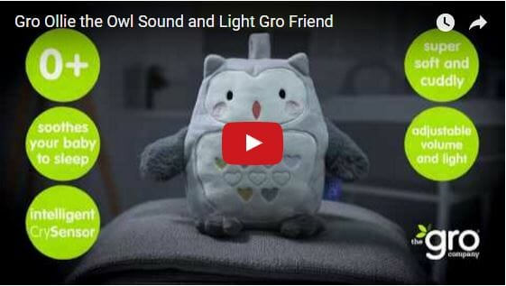 Gro Ollie the Owl Sound and Light Gro Friend Video