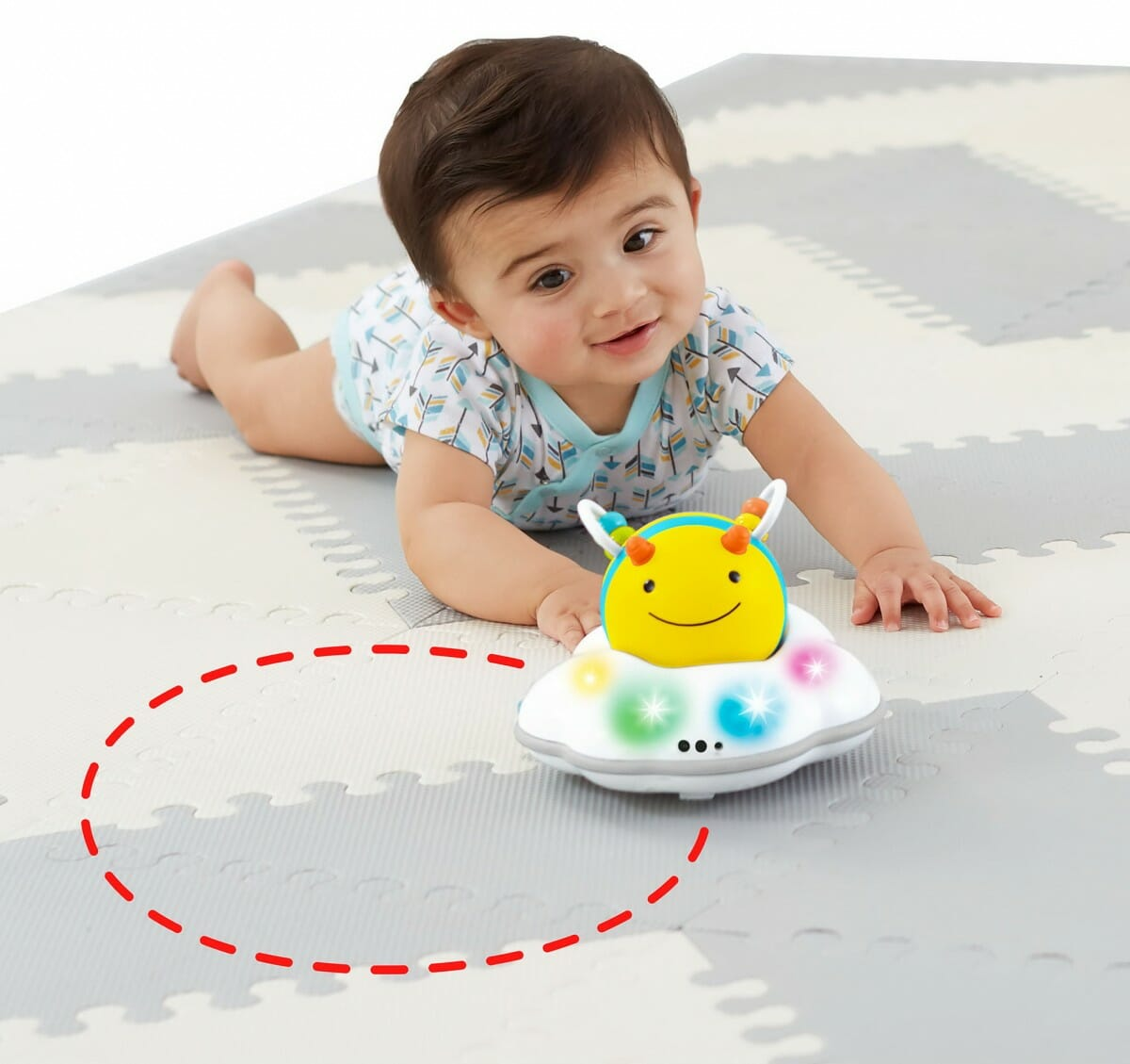 Skip Hop Explore & More Follow Bee Crawl Toy Lifestyle 4