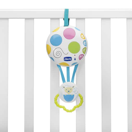 Chicco Balloon Rocker Bouncer Cot Panel on Cot