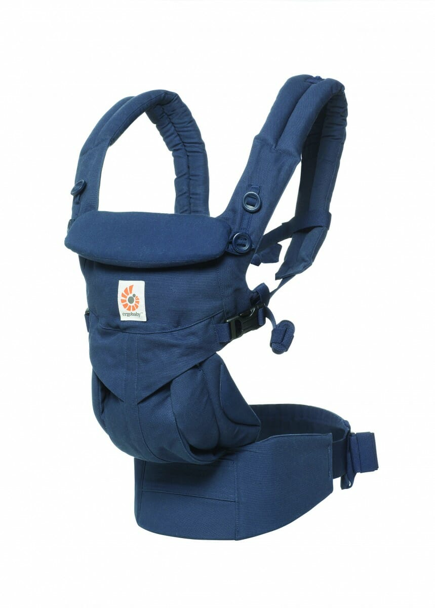 ErgoBaby Omni 360 Baby Carrier Midnight Blue-angle view