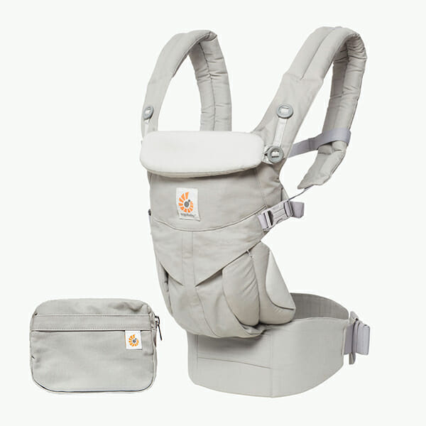 ErgoBaby Omni 360 Baby Carrier Peral Grey-PROD-POUCH-WEB