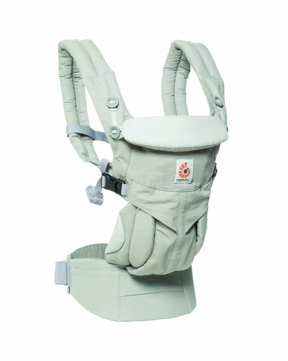 ErgoBaby Omni 360 Baby Carrier Peral Grey-angle view 2