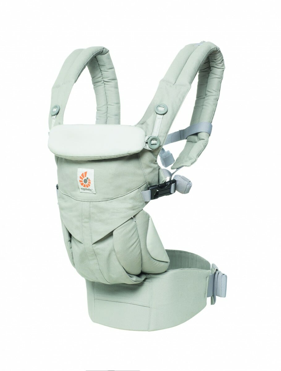 ErgoBaby Omni 360 Baby Carrier Peral Grey-angle view
