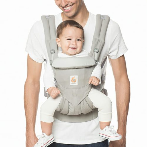 ErgoBaby Omni 360 Baby Carrier Peral Grey-dad