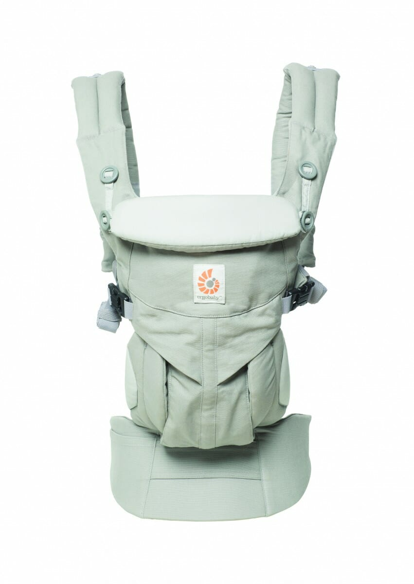 ErgoBaby Omni 360 Baby Carrier Peral Grey-front view