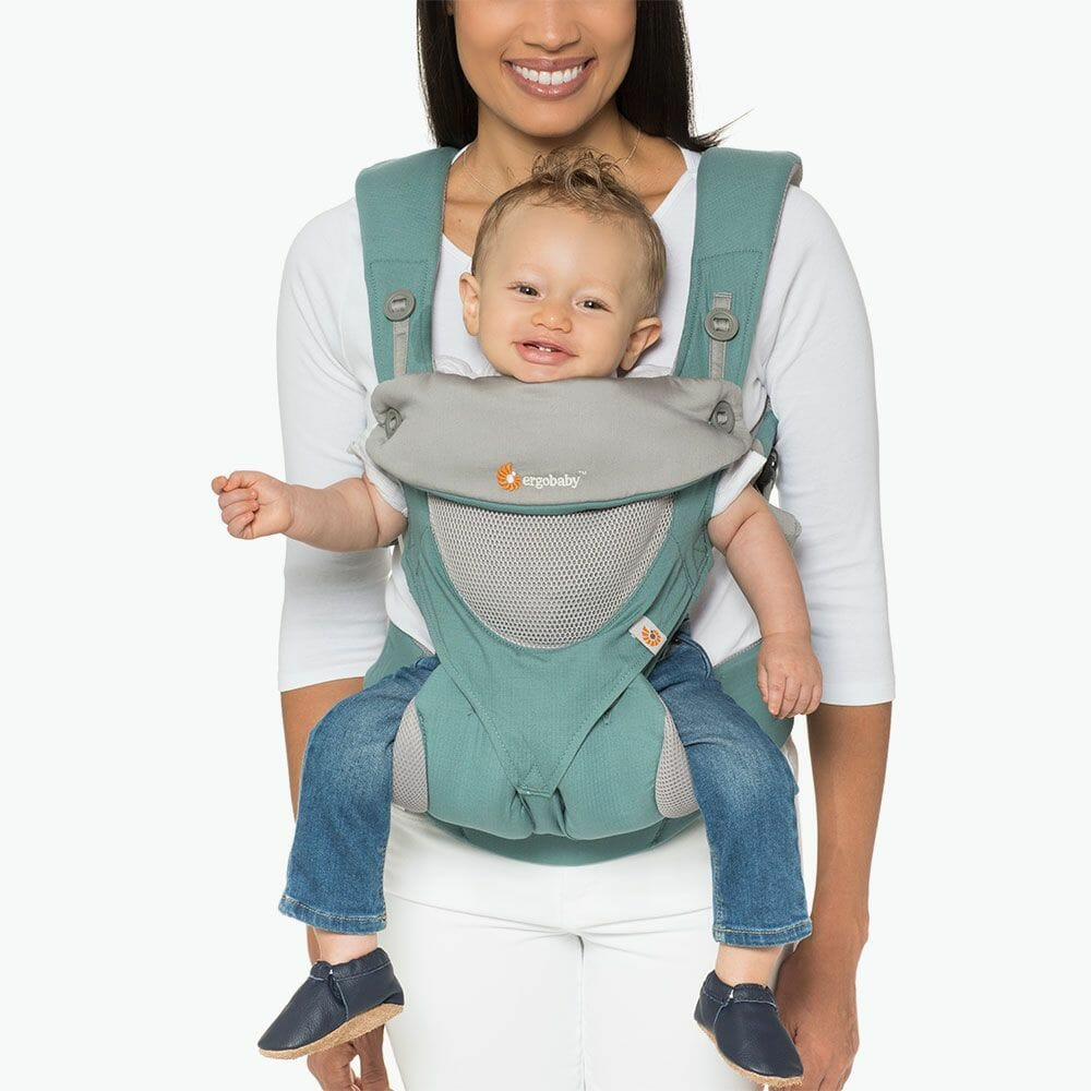 Ergobaby 360 Baby Carrier Cool Mesh Icy Mint In Use