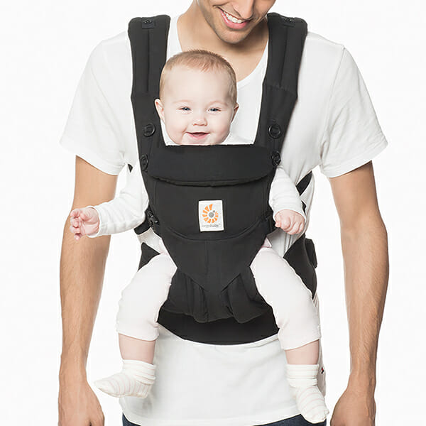 Ergobaby OMNI 360 Baby Carrier Dad Pure Black