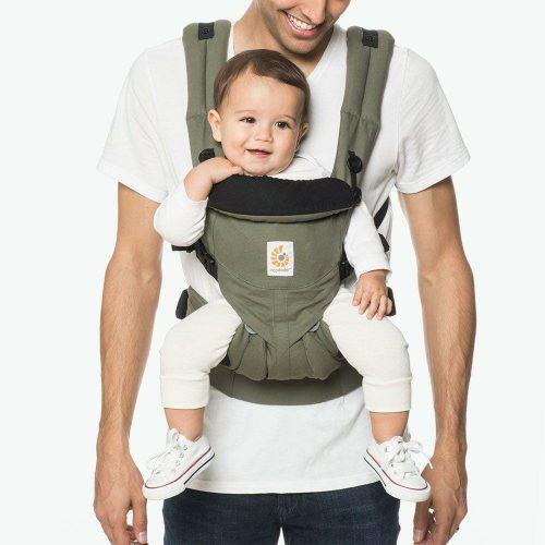 Ergobaby Omni 360 Baby Carrier Khaki Green Lifestyle