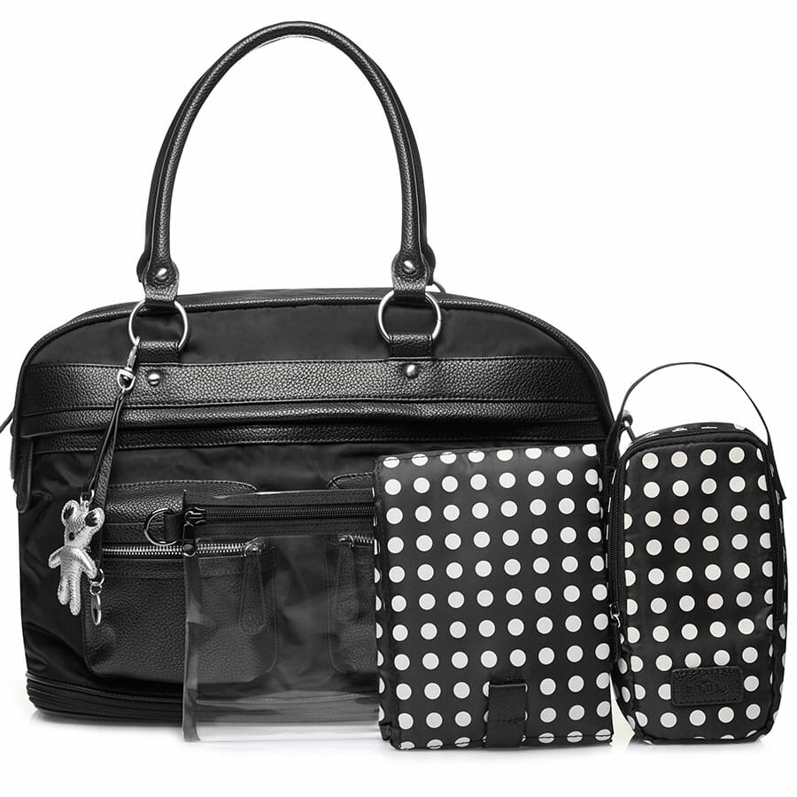 Il Tutto Carrie Weekender Tote BLACK FRONT WITH ACCESS