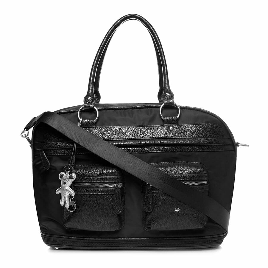 Il Tutto Carrie Weekender Tote BLACK FRONT WITH STRAP