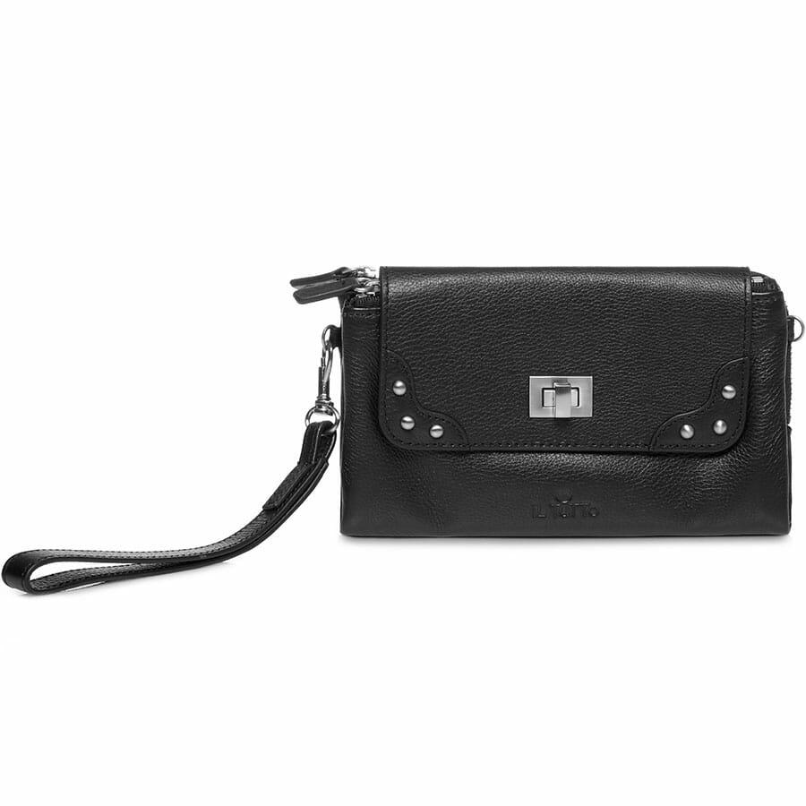 Il Tutto Lexi Leather Mini Bag BLACK FRONT