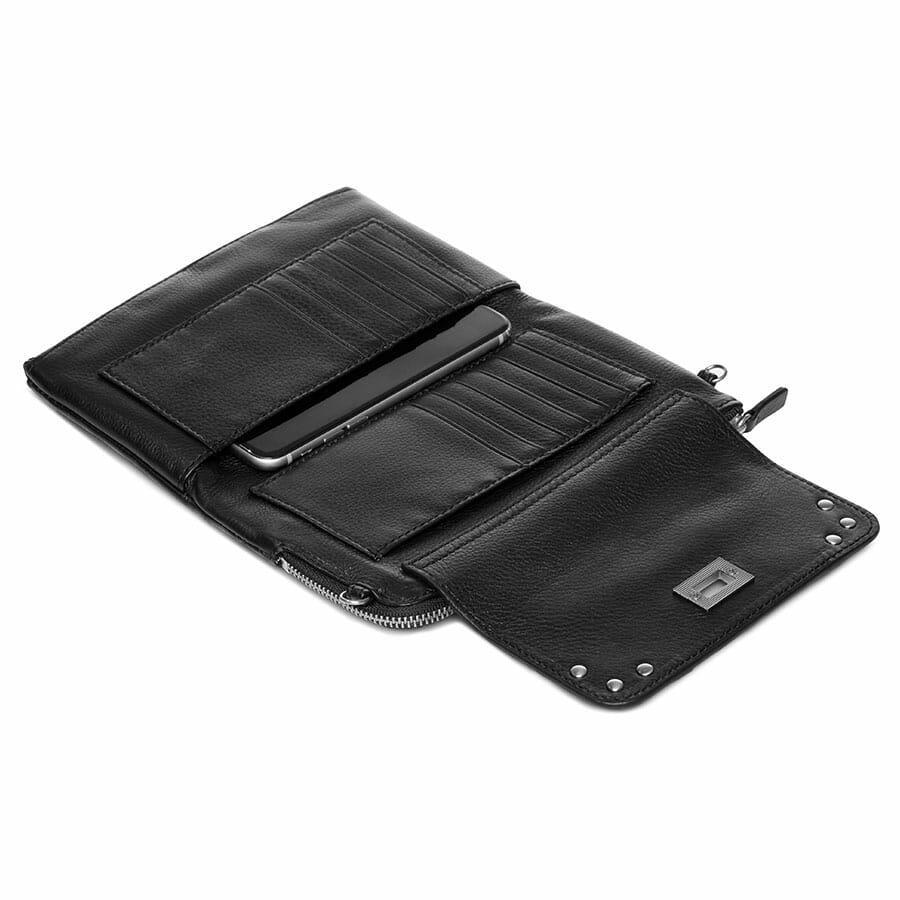Il Tutto Lexi Leather Mini Bag BLACK OPEN