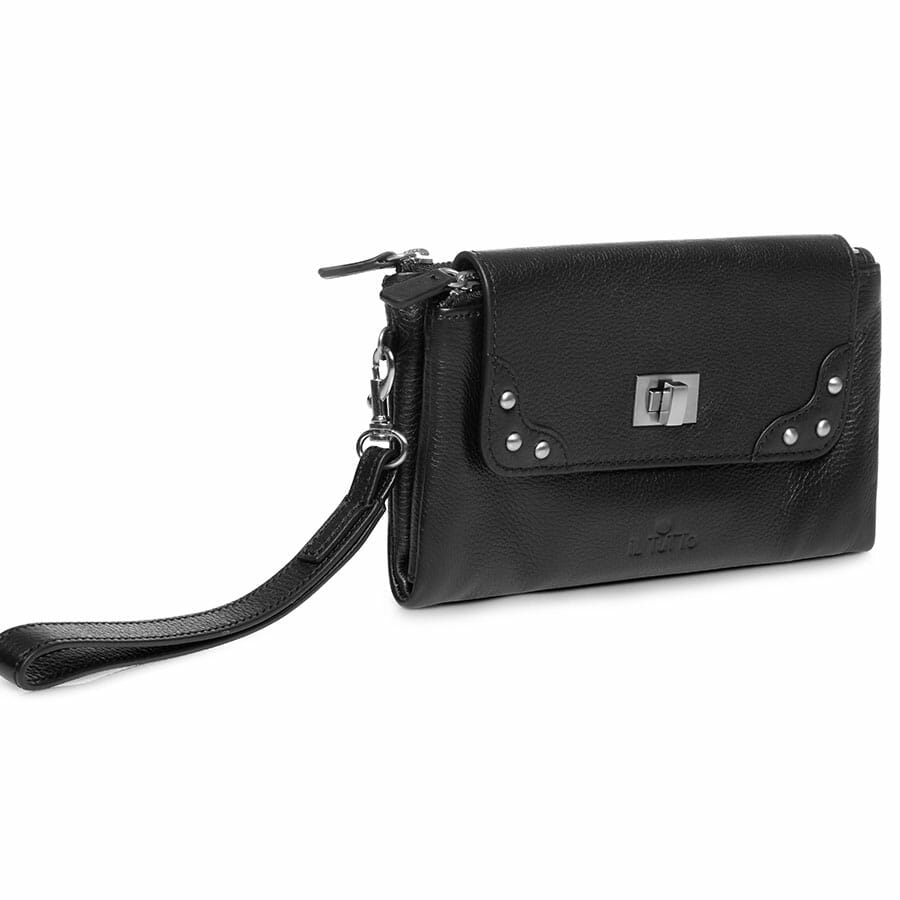 Il Tutto Lexi Leather Mini Bag BLACK SIDE