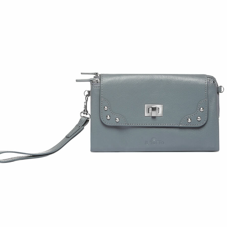 Il Tutto Lexi Leather Mini Bag SLATE FRONT