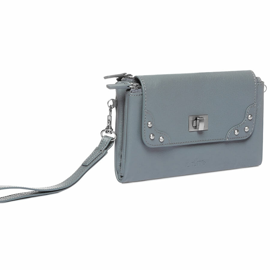 Il Tutto Lexi Leather Mini Bag SLATE SIDE