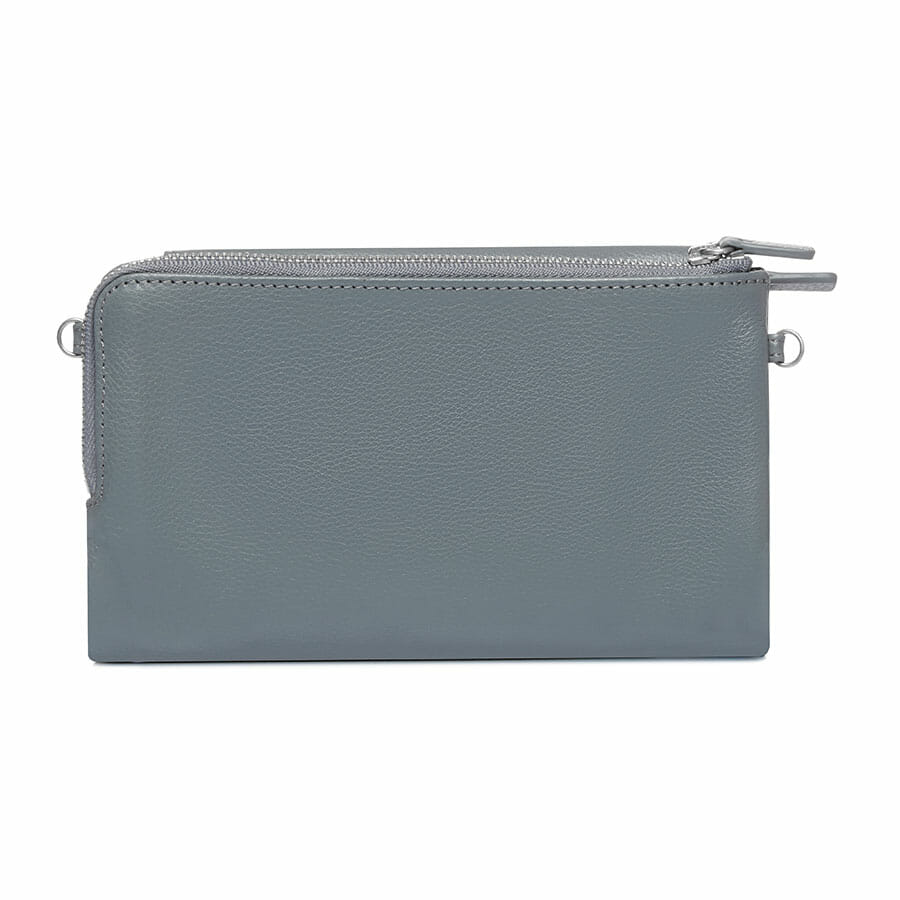 Il Tutto Lexi Leather Mini Bag Slate BACK