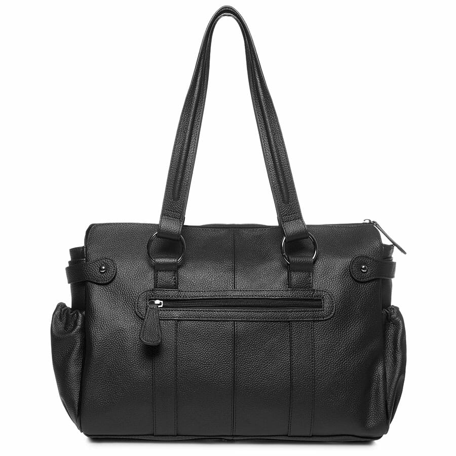 Il Tutto Mia Leather Tote Baby Bag Black back