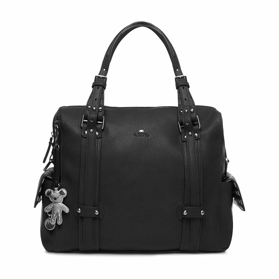Il Tutto Nico Tote Nappy Bag Black FRONT