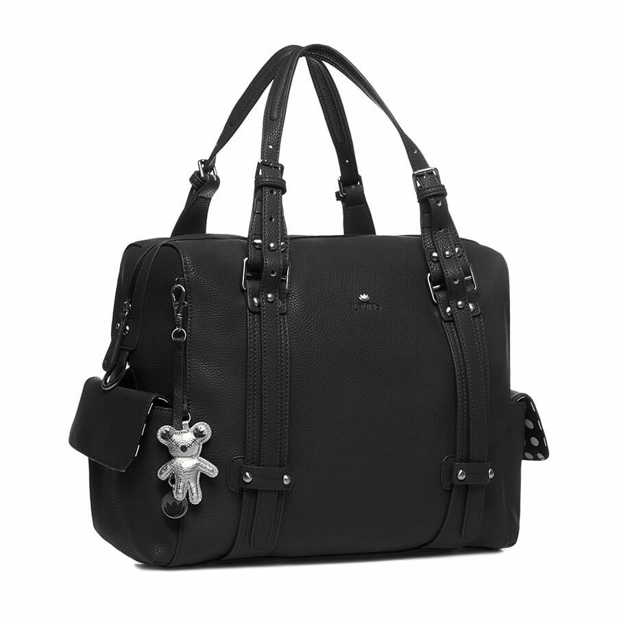Il Tutto Nico Tote Nappy Bag Black SIDE