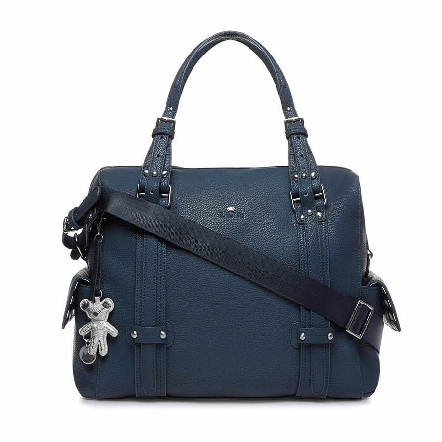 Il Tutto Nico Tote Nappy Bag NAVY FRONT WITH STRAP