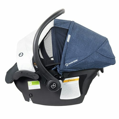 Maxi Cosi Mico Plus Side View with Extended Canopy