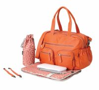 OiOi Tangerine Faux Buffalo Carry All Nappy Bag Accessories
