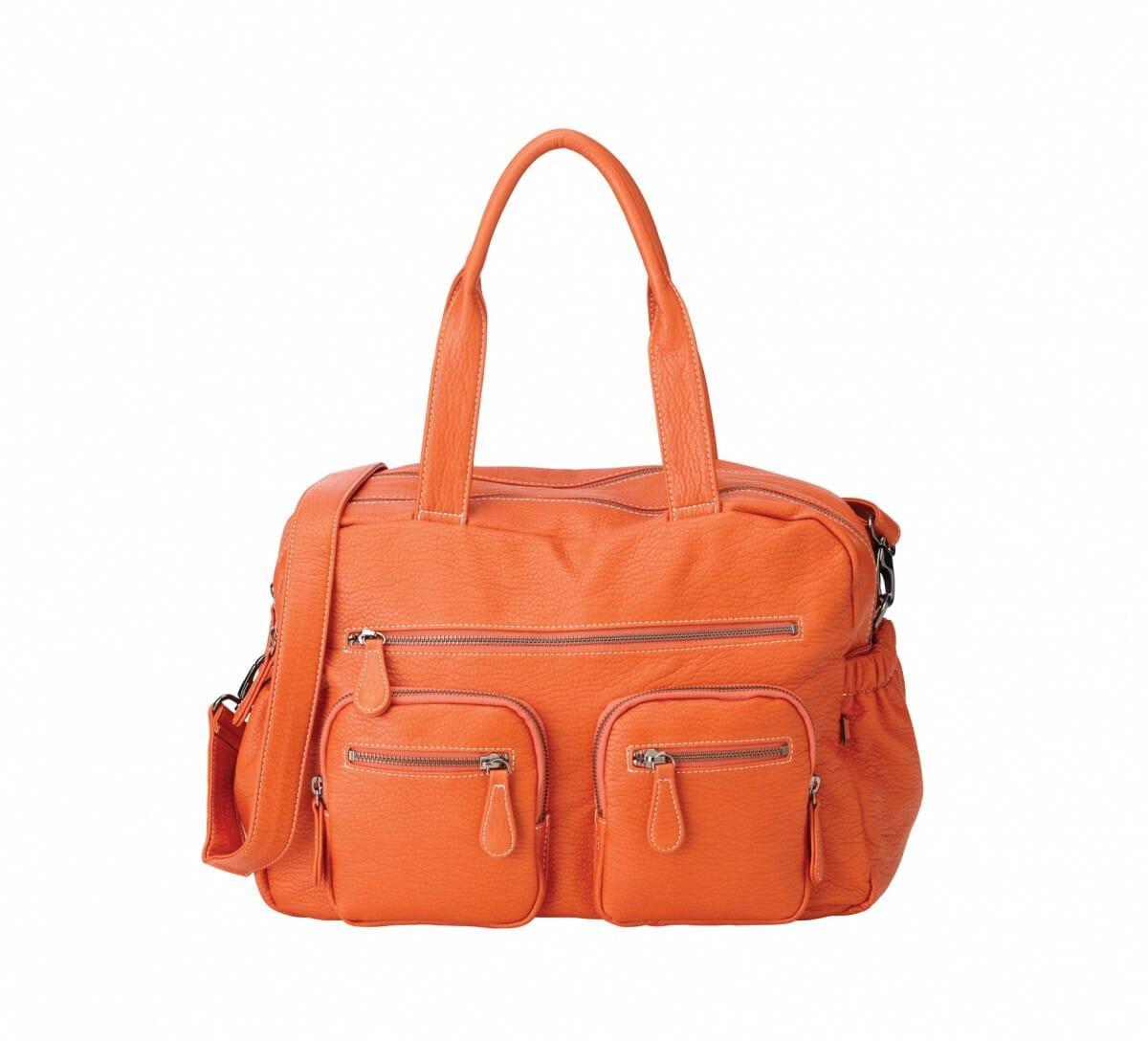 OiOi Tangerine Faux Buffalo Carry All Nappy Bag