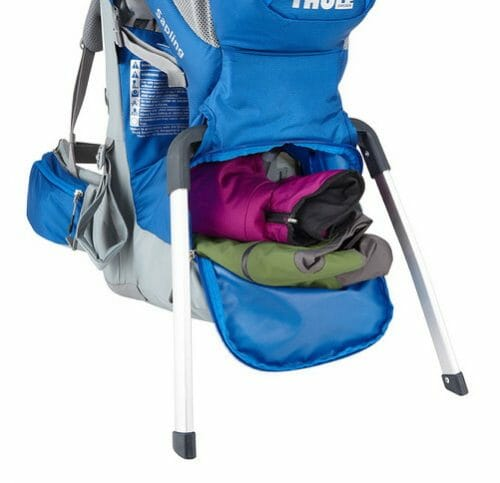 Thule Sapling Child Carrier Backpack Large Zippered Compartment