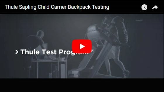 Thule Sapling Child Carrier Backpack Testing Video